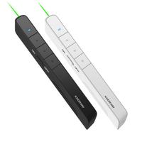KNORVAY N75C Remote Control PPT Laser Page Pen Green Light Presentation Presenter Pen 2.4 GHz