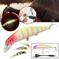 USB Rechargeable Twitching Fishing Lure Light-Up 4