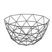 Geometric Metal Wire Decoration Storage Display Basket Display Vegetable Fruit Bowl Holder