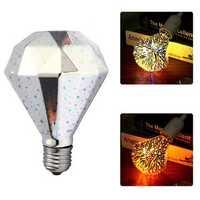 E27 G95 4W 3D Fireworks LED Retro Vintage Fairy Light Bulb Home Party Decorative Lamp AC220V