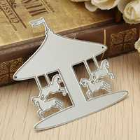 Carousel DIY Cutting Dies Stencil Scrapbooking Paper Card Embossing Decoration