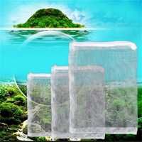 Aquarium Filter Netting Aquarium Zipped Mesh Isolation Net Fish Tank Filter Universal Media Filter B