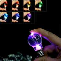 12Colors Change Color Mini Led Flashlight EDC Keychain Outdoor Camping Colorful Bulb