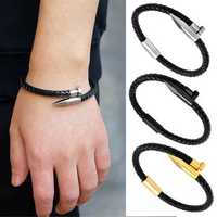 Men's Punk PU Leather Bracelet
