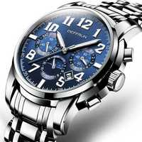 DEFFRUN DM0004 Calendar Steel Automatic Mechanical Watch