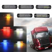 12V-24V 10 LED Car Side Marker Lights Indicator Signal Strobe Lamp Universal for Truck Trailer