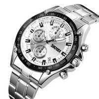 SKMEI 1393 Stainless Steel Business Date Men Quartz Watches