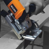 HILDA 760W Biscuit Jointer Woodworking Tenoning Machine Biscuit Machine Puzzle Machine Groover