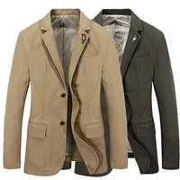 Casual Business Fashion Brooch Decoration Solid Color Blazers Suits Jacket for Men