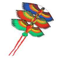 Outdoor Beach Park Polyester Camping Flying Kite Bird Parrot Steady With String Spool For Adults Kids