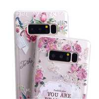 Bakeey 3D Relief Printing Fresh Flower Soft Protective Case for Samsung Galaxy Note 8