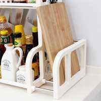 Double Layer Spice Jar Rack Storage Shelf Pantry Kitchen Cabinet Cupboard Holder