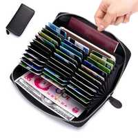 RFID Blocking Secure Wallet 36 Card Slots 6inch Phone Bag