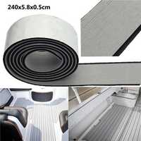 240x5.8x0.5cm EVA Flooring Faux Imitation Teak Gray&Black Decking Boat Flooring Sheet Pad