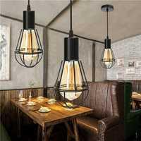 E27 Retro Aluminum Pipe Hemp Rope Pendant Ceiling Lamp Rustic Metal Loft Fixture AC110V-220V