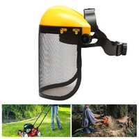 Mesh Chain Saw Safety Helmet Logging Brush Cutter Forestry Visor Hard Hat