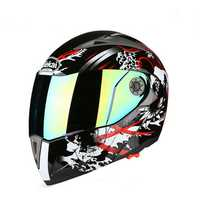 Motorcycle Full Face Helmet Anti-fog Sunscreen Double Lens Breathable