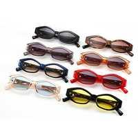 Unisex Angular Cat Eye Cheetah Gold Decorative Sunglasses