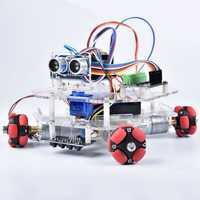 DIY Arduino STEAM Smart RC Robot Car Programmable Omni Wheels Educational Kit