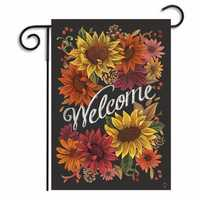 12.5'' x 18'' Sunflowers Garden Flag Flowers Welcome Friends Home Decor Banner Decorations