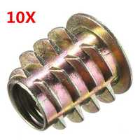 10pcs M8x15mm Cabinet Connecting Screw Internal Thread Wood Insert Nut