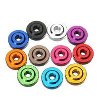 Suleve M6AN2 10Pcs M6 Knurled Thumb Nut w/ Collar Screw Spacer Washer Aluminum Alloy Multicolor