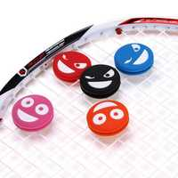 Smiling Face Tennis Racket Vibration Dampener Silicone Badminton Racquet Damper