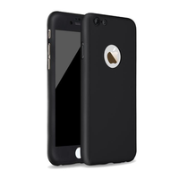 Bakeey™ 360 Degree Full Body Protection Frosted PC Case Cover With Tempered Glass For iPhone 6 6s