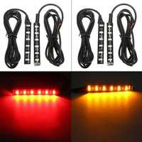 2pcs Universal LED Turn Signal Light Brake Blinker Strip Lamp For Car Motorcycle Truck Lorry