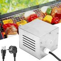 25W 110/220V Stainless Steel Electric Rotisserie Spit Roaster Picnic BBQ Motor 40/80kgs Capacity