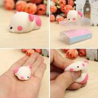 Pink Bear Squishy Squeeze Cute Healing Toy Kawaii Collection Stress Reliever Gift Decor