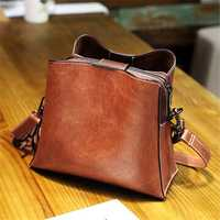 Women Vintage Faux Leather Crossbody Bag Shoulder Bags Bucke