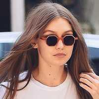 Women Retro UV400 Round Frame Sunglasses