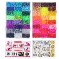 9600Pcs 5mm 48Colors DIY Fuse Beads Water Sticky Magic Aqua Beads Art Craft Toys for Kids Adults