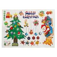 Merry Christmas Party Home Decoration Removable Wall Sticker Toys Ornament For Kids Children Gift