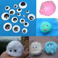 520pcs 5 to20mm 3D Wiggly Eyes Dolls DIY Handicraft Sticky Card Making Wobbly Scrapbooking Adhesive Plastic Toy