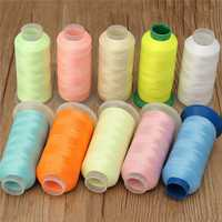 3000 Yards Polyester Glow Thread Spool Cross Stitch Knitting Sewing Embroidery Luminous Threads