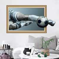 Miico 3D Creative PVC Wall Stickers Home Decor Mural Art Removable Football Wall Decals