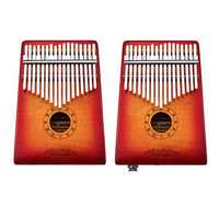 GECKO MC-S 17 Keys Kalimba Curly maple wood Thumb Piano Finger With Tune Hammer Carry Bag