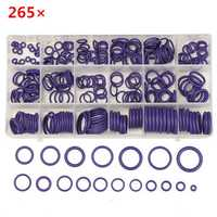 265Pcs R22/R134a Air Conditioning O-Ring Rubber Rings Waterproof Washer