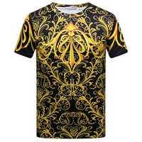 Summer Stylish Mens 3D Royal Printing Casual O-neck Short Sleeve T-shirt