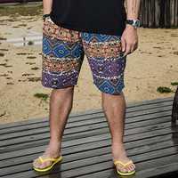INCERUN Mens Beach Summer Sports Board Hawaiian Shorts