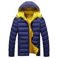 Winter Thick Warm Hooded Zipper Men Padded Jackets