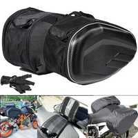 58L Motorcycle Saddlebags Rear Seat Luggage Large Capacity Multi-use Expandable