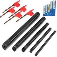 5pcs 8/10/12/16/20mm SCLCR Lathe Boring Bar Tunring Tool Holder For CCMT Inserts