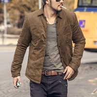 Men Fall Winter Vintage Trendy Slim Light Warm Padded Jacket