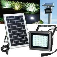 Solar Powered 54 LED Waterproof Outdoor Security Panel Flood Light Billboard Garden Lamp