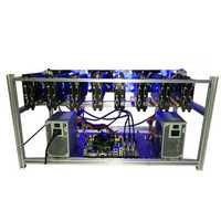 8 GPU Mining Frame Case Miner Case Aluminum Stackable Mining Rig Case Wtih 6 Fans