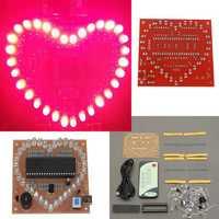 51 SCM Pink LED Light Love Heart Shape DIY Kit