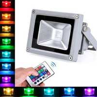 10W Remote Control RGB Outdoor LED Flood Light Waterproof Wall Washer Lamp AC100-245V